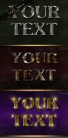 Metal luster text effect by DiZa-74