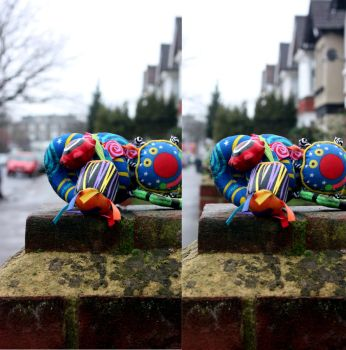 Stereoscopic Squiggley Toy XI by aegiandyad