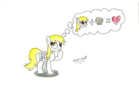 Derpy, deep in thought - MLP by UlyssesGrant