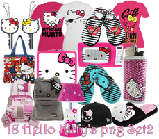 18 Hello Kitty's Png Set_2 by JEricaM