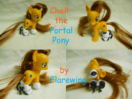 Chell the Portal Pony by flarewingpwny
