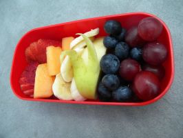 Rainbow Fruit Breakfast Bento by Demi-Plum
