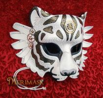 Venetian Steampunk Winged Tiger by merimask