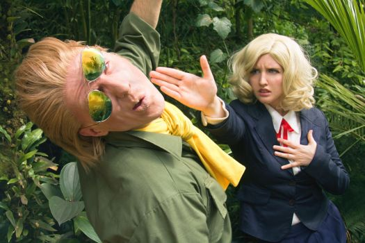 Kaz and Paz cosplay - Metal Gear Solid by MaryMustang01
