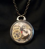 Altered Pocket Watch Necklace by epiquemetalworx