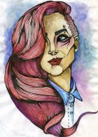 Girl with pink hair by Alexandra-Mad