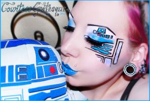 . R2D2 Make-up . by Countess-Grotesque