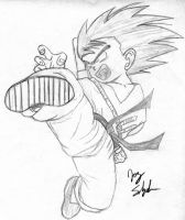 Son Goku by TwistedPurple