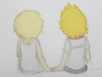Roxas and Namine by Charchu