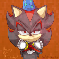 Shadow The Hedgehog - 13th Birthday! by JustASonicFan