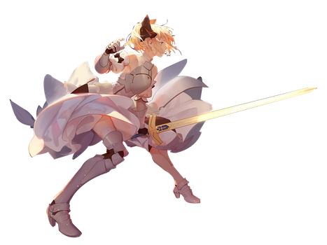 Render - Saber by gintoshiro02