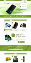 Free Ecommerce PSD template Download by nnuddin
