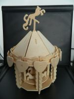 Wooden Carousel by Stock-Karr