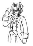 Tea as Miles Edgeworth by Suiish
