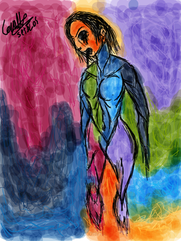 Random Drawing #1 (Avant-Garde Famale Figure) by Setdlos