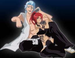 Grimmjow x Renji by FlyingDragon04