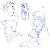 Livestream sketches 2 by palnk