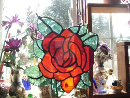 Stained Glass Rose by LoneDireWolfess