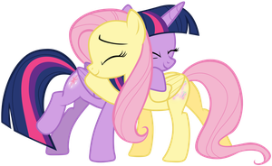 Fluttershy and Twilight by Tardifice
