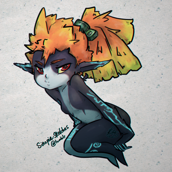 Pouting Midna by OOT-Link