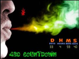 Flash 420 Marijuana Countdown by qfunk99