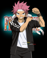 Sports Natsu ~ Fairy Tail by TheMuseumOfJeanette