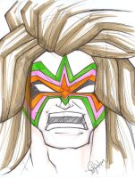 Ultimate Warrior Face by emceelokey