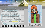Meg Johto league trainer card by loveDBZ