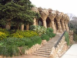 Park Guell, Barcelona, Spain by tompot