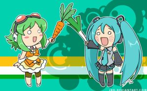 Vocaloid: Carrot X Leek by J8d