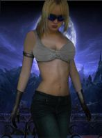 MK9 young Sonya Blade by DeathsFugitive