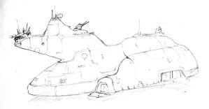 mecha-carrier sketch by genocidalpenguin