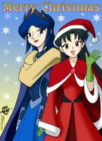 Dianna and May for Christmas by ArthurT2013
