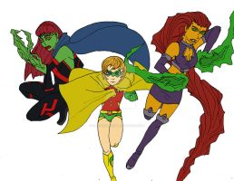 DC Heroines by DAHalfblood