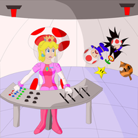 Outer Space Peach Peril by SuperTailsHero