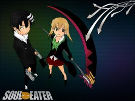 Soul Eater (Kid and Maka) by ApplePop410