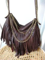 Leather Chain Bag by ajnataya