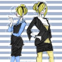 Fun with Genderbends: Sanji by Sogequeen2550