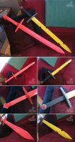 Finn and Fionna's Adventure Time Swords by JazzLizard