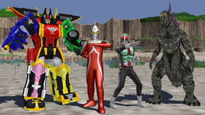 MMD - The Big 4 of Toku in MMD Form by Zeltrax987