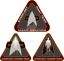 Starfleet Hazard Team Logos 3 by cbunye