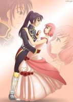 Tales of Vesperia - Princess and her Knight by rufiangel