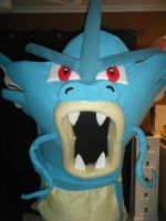 Gyarados costume head front by spookysculpter