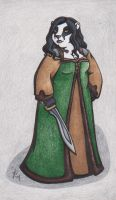 Badger Woman by rachelillustrates