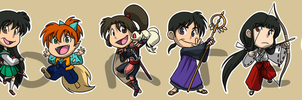 Stickers: Inuyasha by forte-girl7