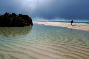 Sand patterns - Porthcurno by dartmoor4