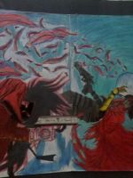 Vincent Valentine and Alucard by BlackManaBurning