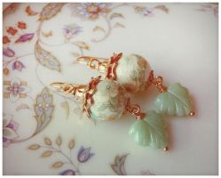 Maple Mint Leaf Earrings by GingerKellyStudio