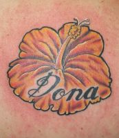 hibiscus tattoo by CamShafty