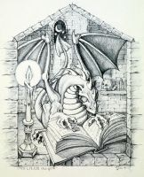 Ex Libris Dragon by kitschpainter